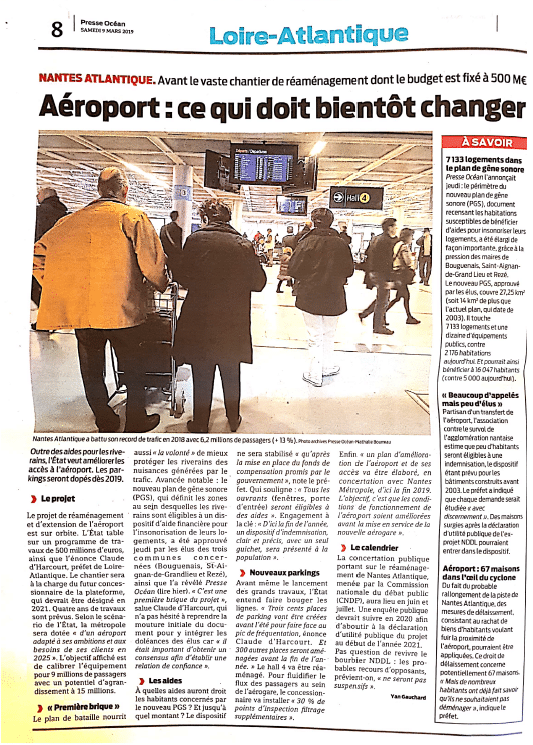 aides zone de bruit aéroport Nantes Atlantique