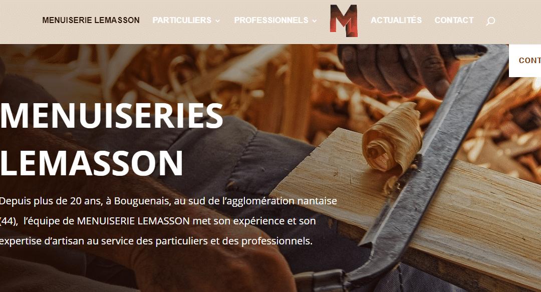 Site web Menuiserie Lemasson
