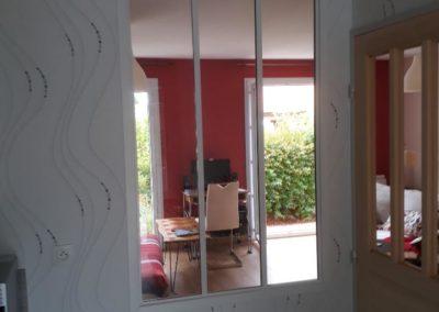 Mur cuisine après pose verrière intérieure